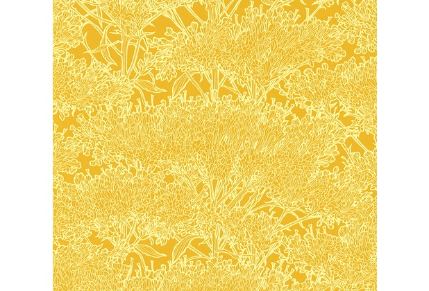 Architects Paper Vliestapete Absolutely Chic Tapete mit Blumen floral gelb 369723 10,05 m x 0,53 m