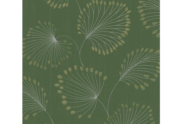 Architects Paper Vliestapete Alpha Tapete floral grün metallic 333711 10,05 m x 0,53 m