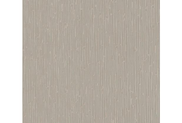 Architects Paper Vliestapete Alpha Tapete gestreift braun metallic 333281 10,05 m x 0,53 m