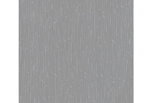 Architects Paper Vliestapete Alpha Tapete gestreift grau metallic 333284 10,05 m x 0,53 m