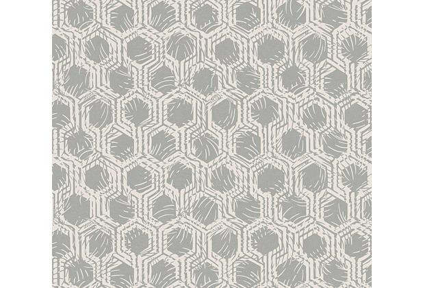 Architects Paper Vliestapete Alpha Tapete grafisch beige metallic 333272 10,05 m x 0,53 m
