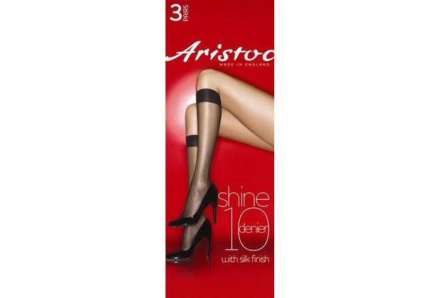 Aristoc Below the Knees 10D Shine Knee Highs 3 Paare black - OS