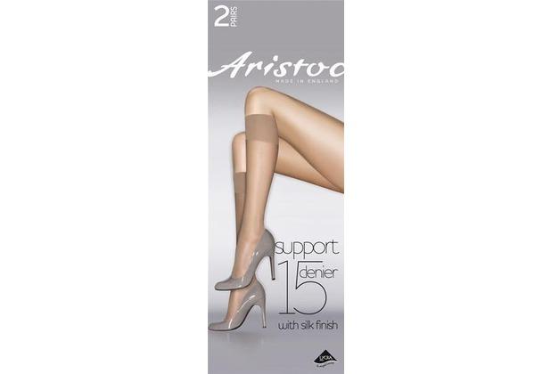 Aristoc Below the Knees 15D Medium Support Knee Highs 2 Paare black - OS