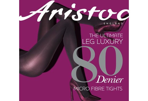 Aristoc Leg Luxury 80D Opaque Tights Charcoal SM