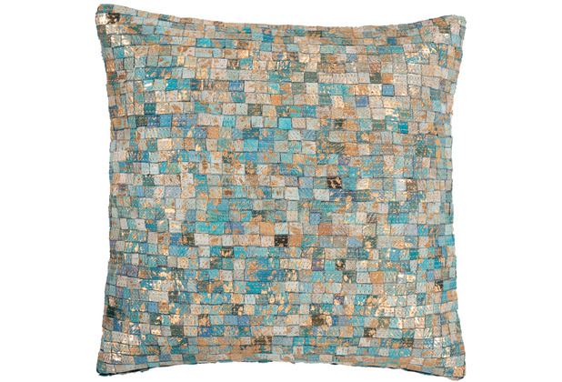 Arte Espina Kissen Finish Pillow 100 Türkis / Gold 45 x 45 cm