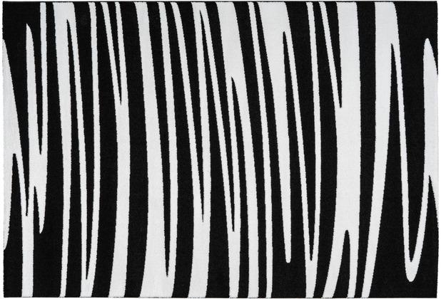 Arte Espina Teppich Broadway 200 Schwarz / Weiß 120 x 170 cm