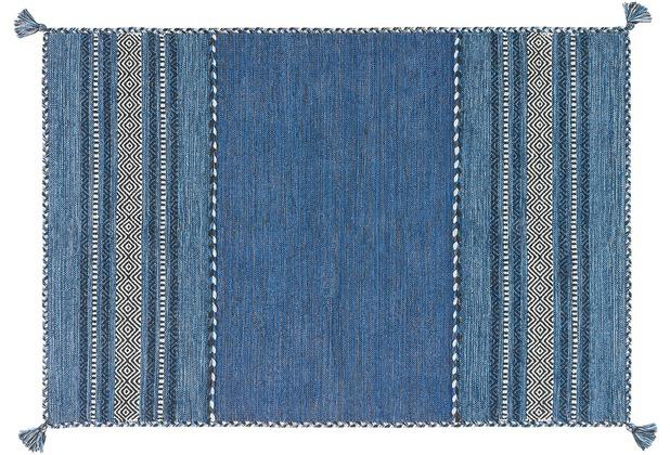 Arte Espina Handwebteppich Navarro 2915 Blau 120 x 170 cm