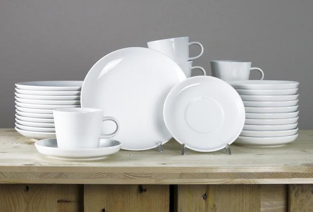 Arzberg Cucina-Basic ROK weiss Kaffeeset 36-tlg. für 12 Personen