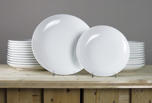 Arzberg Cucina-Basic ROK weiss Tafelset 24-tlg. für 12 Personen