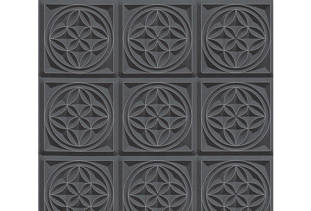 AS Création 3D Mustertapete Simply Decor Tapete metallic schwarz 329801 10,05 m x 0,53 m
