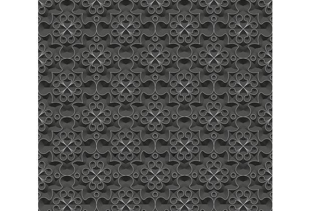AS Création 3D Mustertapete Simply Decor Tapete metallic schwarz 329831 10,05 m x 0,53 m
