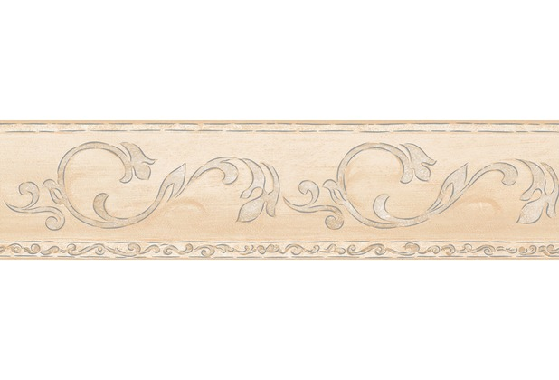AS Création selbstklebende Bordüre Only Borders 9 beige creme metallic 5,00 m x 0,13 m