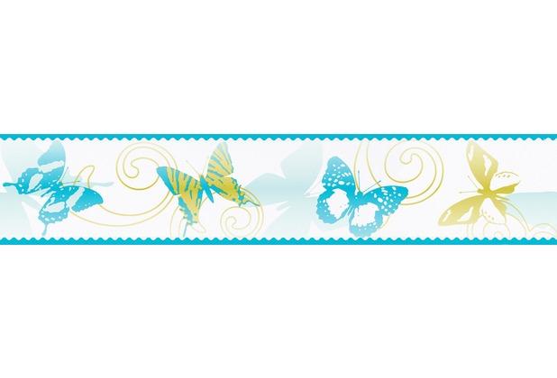 """AS Création selbstklebende Bordüre \""""Stick Up\"""" 901217 5 m x 0,10 m - Schmetterlinge"""