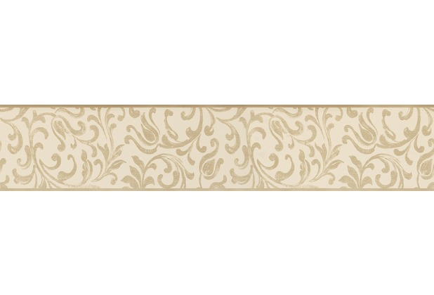 AS Création selbstklebende Bordüre Only Borders 9 beige creme 5,00 m x 0,10 m
