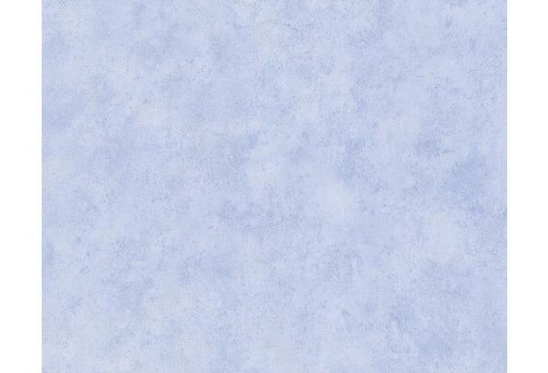 AS Création Uni-/Streifentapete Boys & Girls, Papiertapete, blau 758781 10,05 m x 0,53 m