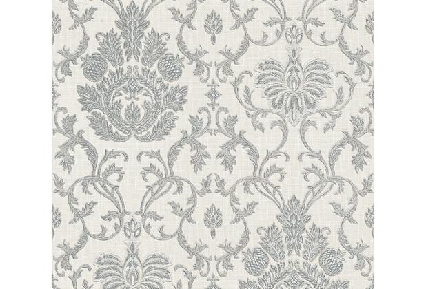 AS Création barocke Mustertapete Belle Epoque Strukturprofiltapete grau metallic weiß 339010 10,05 m x 0,53 m