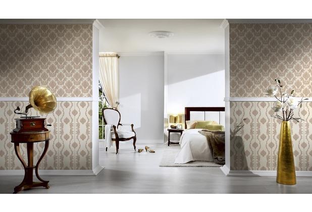 AS Création barocke Mustertapete Château 5 Vliestapete beige braun metallic 10,05 m x 0,53 m