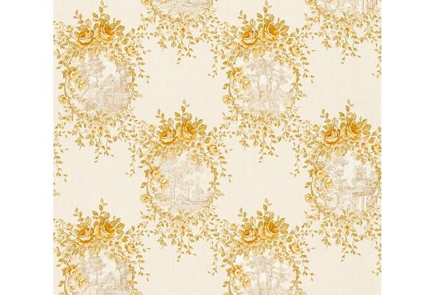 AS Création barocke Mustertapete Château 5 Vliestapete beige metallic 344993 10,05 m x 0,53 m