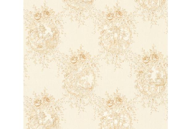 AS Création barocke Mustertapete Château 5 Vliestapete beige metallic 344994 10,05 m x 0,53 m