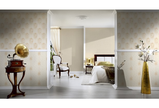 AS Création barocke Mustertapete Château 5 Vliestapete beige metallic 10,05 m x 0,53 m
