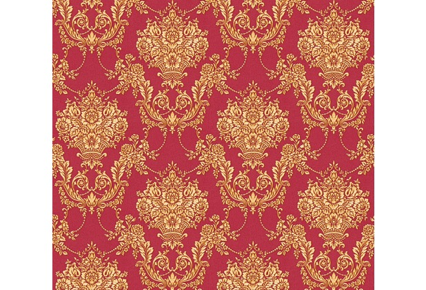 as cr ation barocke mustertapete ch teau 5 vliestapete gelb metallic rot ebay. Black Bedroom Furniture Sets. Home Design Ideas