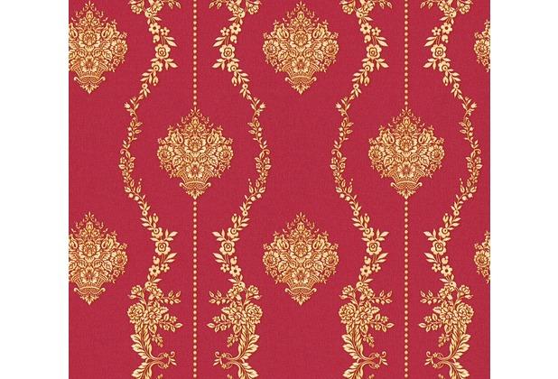 AS Création barocke Mustertapete Château 5 Vliestapete gelb metallic rot 344932 10,05 m x 0,53 m