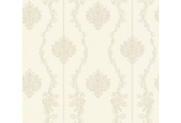 AS Création barocke Mustertapete Château 5 Vliestapete grau metallic weiß 344933 10,05 m x 0,53 m