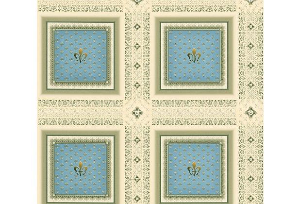 AS Création barocke Mustertapete Hermitage 10 beige blau grün 335412 10,05 m x 0,53 m