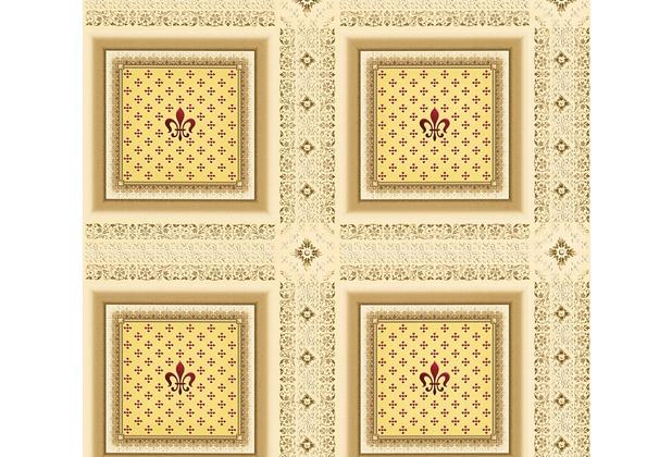 AS Création barocke Mustertapete Hermitage 10 beige braun rot 335411 10,05 m x 0,53 m