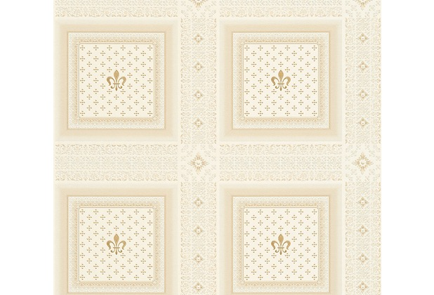 AS Création barocke Mustertapete Hermitage 10 beige creme 335414 10,05 m x 0,53 m