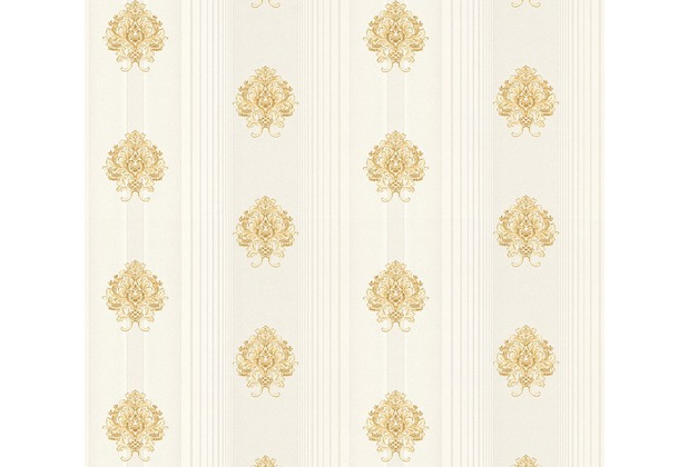 AS Création barocke Mustertapete Hermitage 10 beige creme metallic 330844 10,05 m x 0,53 m
