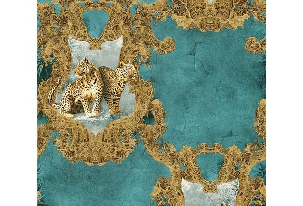 AS Création barocke Mustertapete Hermitage 10 blau braun 335435 10,05 m x 0,53 m