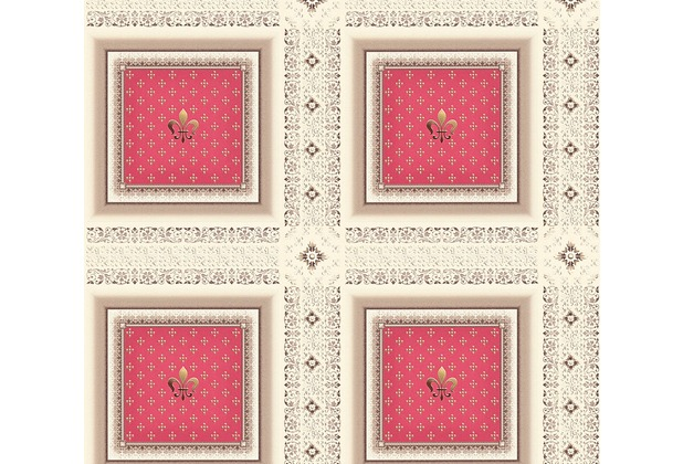 AS Création barocke Mustertapete Hermitage 10 braun creme rot 335413 10,05 m x 0,53 m