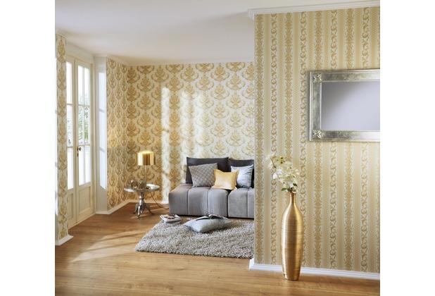 AS Création barocke Mustertapete Hermitage 10 creme gelb 10,05 m x 0,53 m