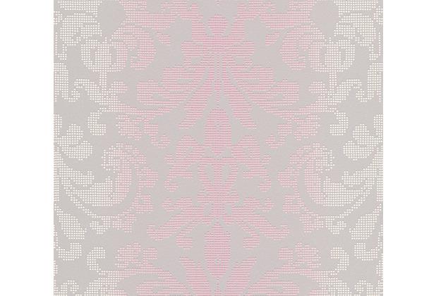 AS Création barocke Mustertapete Reflection Vliestapete Tapete grau metallic lila 319955 10,05 m x 0,53 m