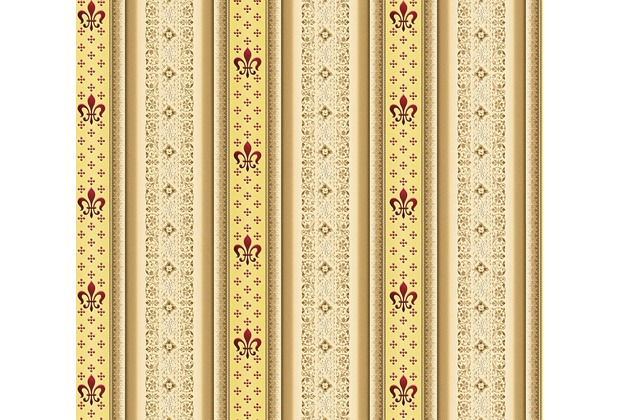 AS Création barocke Mustertapete Streifentapete Hermitage 10 beige braun rot 335421 10,05 m x 0,53 m