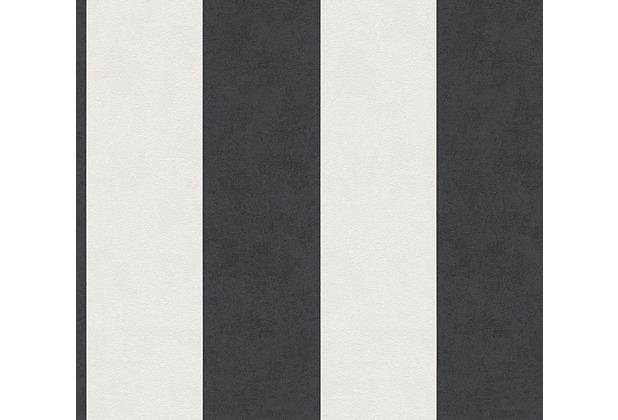 AS Création Blockstreifentapete Memory 3 Vliestapete creme schwarz 329905 10,05 m x 0,53 m