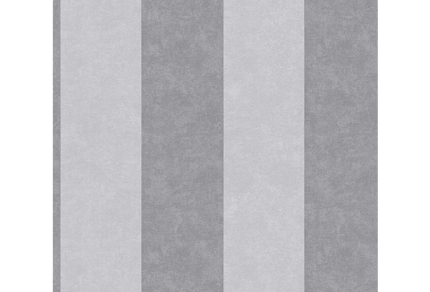 AS Création Blockstreifentapete Memory 3 Vliestapete grau 329904 10,05 m x 0,53 m
