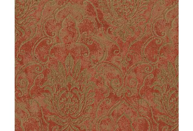 AS Création Bohemian Mustertapete, Tapete, glänzend, klassisch, braun, metallic, rot 945334 10,05 m x 0,53 m