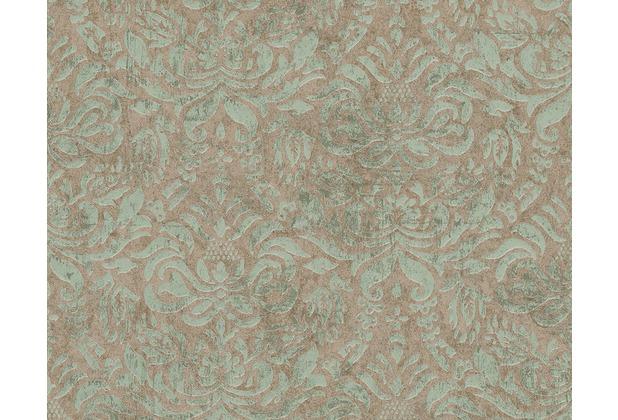 AS Création Bohemian Mustertapete, Tapete, glänzend, Vintage-Look, braun, grün, metallic 945648 10,05 m x 0,53 m
