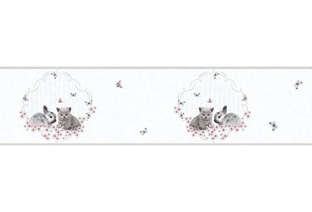 AS Création Bordüre Little Stars Borte PVC-frei bunt grau 355672 5,00 m x 0,13 m