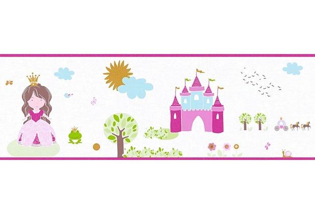 AS Création Bordüre Little Stars Borte PVC-frei bunt weiß 358532 5,00 m x 0,17 m