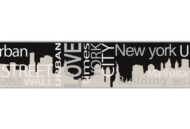 "AS Création Boys & Girls 4 Bordüre \""New York City\"" 935671 5 m x 0,13 m"