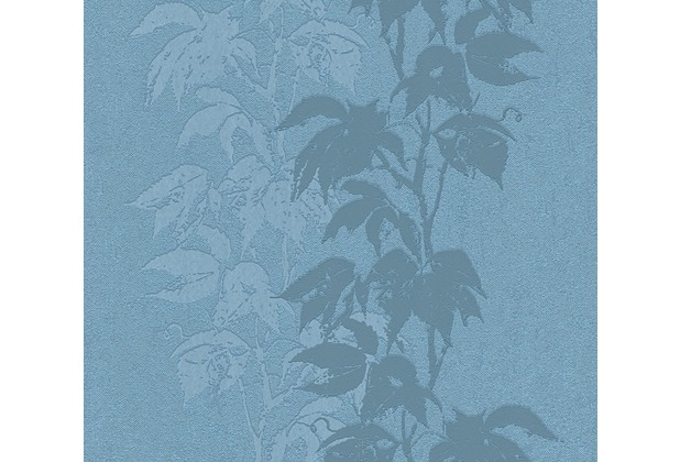 AS Création florale Mustertapete Amory Vliestapete blau 322695 10,05 m x 0,53 m