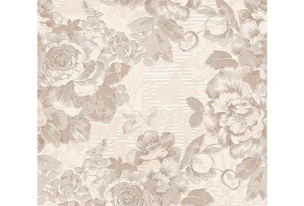 AS Création florale Mustertapete Belle Epoque Strukturprofiltapete braun creme metallic 338641 10,05 m x 0,53 m