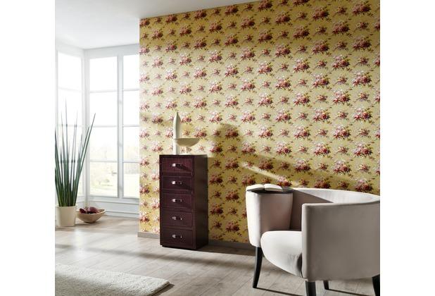 AS Création florale Mustertapete Château 5 Vliestapete bunt gelb 10,05 m x 0,53 m