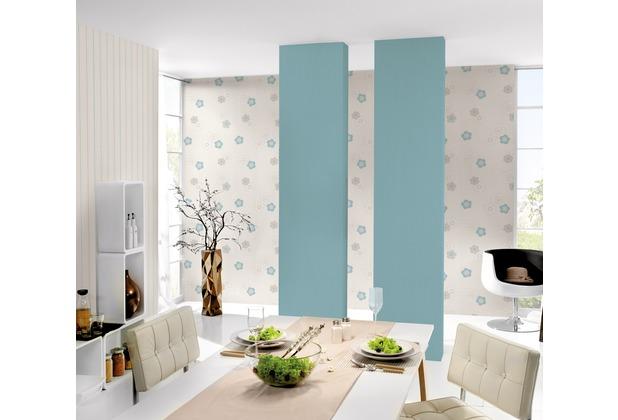 AS Création florale Mustertapete Happy Spring Vliestapete beige blau weiß 10,05 m x 0,53 m