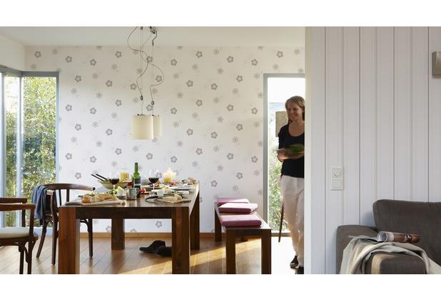 AS Création florale Mustertapete Happy Spring Vliestapete beige braun creme 10,05 m x 0,53 m