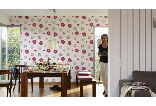 AS Création florale Mustertapete Happy Spring Vliestapete braun creme rot 10,05 m x 0,53 m