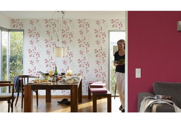 AS Création florale Mustertapete Happy Spring Vliestapete grau rot weiß 10,05 m x 0,53 m